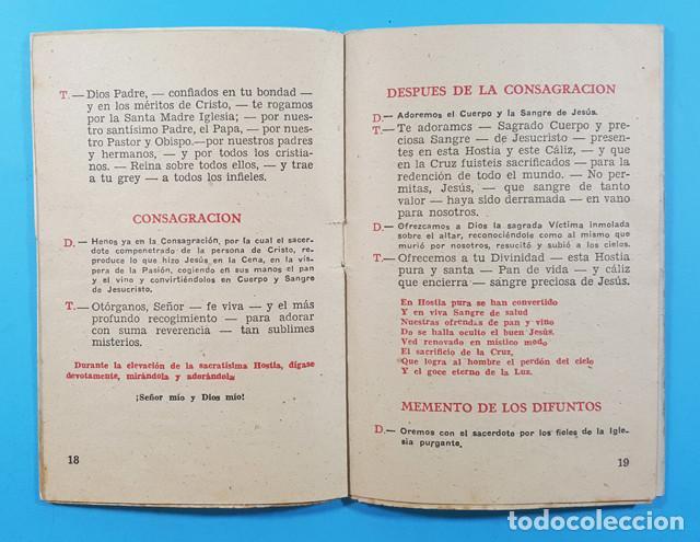 Libros de segunda mano: MISA ESCOLAR MELODIADA, IGNACIO SUDUPE, COMISION CATEQUISTICA DIOCESANA ZARAGOZA 1948 30 PAGINAS - Foto 3 - 278190663