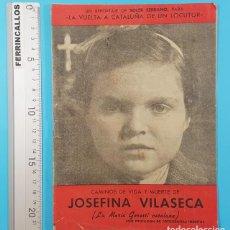 Libros de segunda mano: CAMINOS DE VIDA Y MUERTE DE JOSEFINA VILASECA,VUELTA A CATALUÑA DE UN LOCUTOR,SOLER SERRANO 16 PAG. Lote 278191253