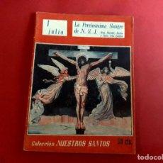 Libros de segunda mano: LA PRECIOSISIMA SANGRE DE N. S. J. 1 JULIO COLECCIÓN NUESTROS SANTOS. Lote 278506218