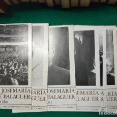 Libros de segunda mano: EL SIERVO DE DIOS JOSE MARIA ESCRIBA DE BALAGUER. FUNDADOR DEL OPUS DEI. 12 HOJAS INFORMATIVAS. Lote 279384668