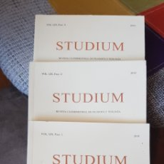 Libros de segunda mano: LIBROS STUDIUM (VOL. LIX FASC. 1, 2 Y 3 AÑO 2019). Lote 280812898