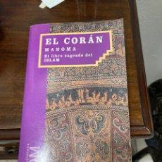 Libros de segunda mano: LIBRO EL CORAN MAHOMA. Lote 284229638