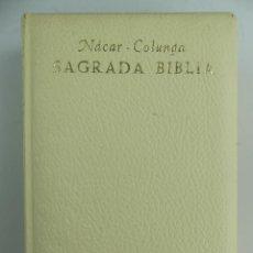 Livres d'occasion: SAGRADA BIBLIA POR FUSTER BIBLIOTECA DE AUTORES CRISTIANOS AÑO 1964. Lote 285412638