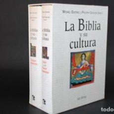 Livres d'occasion: LA BIBLIA Y SU CULTURA / MICHEL QUESNEL Y PHILIPPE GRUSON / 2 TOMOS / ESTUCHE. Lote 286010683