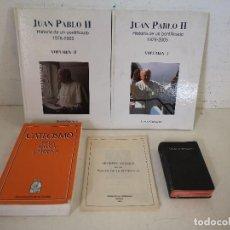 Livres d'occasion: LOTE DE 5 LIBROS RELIGIOSOS, VARIOS TÍTULOS Y AÑOS, A CLASIFICAR. Lote 287587943
