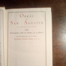 Livros em segunda mão: SAN AGUSTÍN. ENARRACIONES SOBRE LOS SALMOS 4º Y ULTIMO. TOMO XXII DE LAS OBRAS COMPLETAS BAC. EDICIÓ. Lote 287688953
