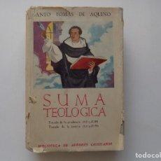 Livres d'occasion: LIBRERIA GHOTICA. SANTO TOMAS DE AQUINO.SUMA TEOLOGICA.TRATADO DE LA PRUDENCIA Y DE LA JUSTICIA.1956. Lote 287887258