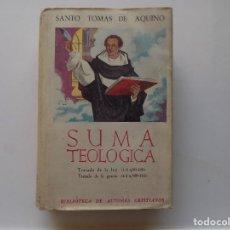 Livres d'occasion: LIBRERIA GHOTICA. SANTO TOMAS DE AQUINO.SUMA TEOLOGICA.TRATADO DE LA LEY Y DE LA GRACIA.1956. Lote 287887628