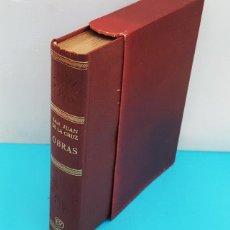 Libros de segunda mano: OBRAS DE SAN JUAN DE LA CRUZ, EDITORIAL VERGARA 1965 TAPA DURA ESTUCHE 1005 PAGINAS. Lote 288007678