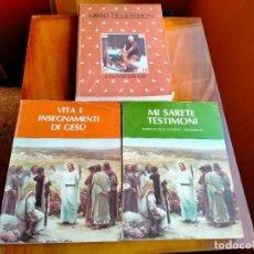 Libros de segunda mano: LIBROS RELIGIÓN LIBRO DI MORMÓN, MI SARETE TESTIMONIO, VITA E INSEGNAMENTI DI GESUI. Lote 288216538