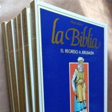 Libros de segunda mano: DESCUBRIR LA BIBLIA 8 TOMOS COMPLETA - CÓMIC DE LA BIBLIA - PLAZA & JANES. Lote 288223773