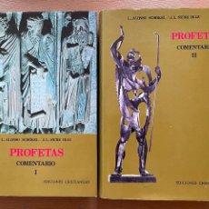 Libri di seconda mano: PROFETAS COMENTARIO I Y II, 2 VOLUMENES EDICIONES CRISTIANDAD. Lote 289212803