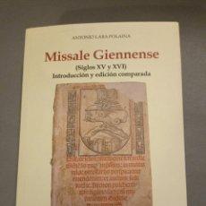 Libros de segunda mano: MISSALE GIENNENSE 2010 CAJA RURAL DE JAÉN. Lote 292271488