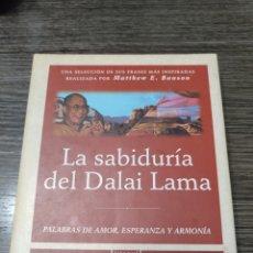 Libros de segunda mano: LA SABIDURÍA DEL DALAI LAMA MATTHEW E BUNSON INTEGRAL. Lote 293977778