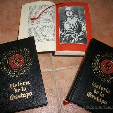 Libros de segunda mano: HISTORIA DE LA GESTAPO. EN TRES TOMOS. Lote 238143285