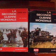 Libros de segunda mano: LA SECONDE GUERRE MONDIALE POR RAYMOND CARTIER, 2 TOMOS - PARIS MATCH, LAROUSSE 1965 EN FRANCES. Lote 29773140