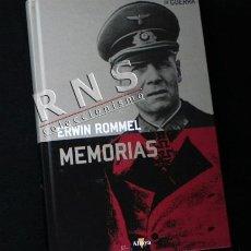 Libros de segunda mano: ERWIN ROMMEL - MEMORIAS DE MARISCAL - II GUERRA MUNDIAL DESIERTO BATALLAS HISTORIA LIBRO NAZIS NAZI. Lote 189254976