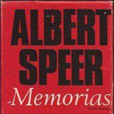 Libros de segunda mano: LIBRO-ALBERT SPEER MEMORIAS-PLAZA Y JANES-1972-ILUSTRADO-MINISTRO . Lote 35798808