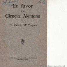 Libros de segunda mano: EN FAVOR DE LA CIENCIA ALEMANA.SERVICIO ALEMANA DE INFORMACIONES.. Lote 38674662