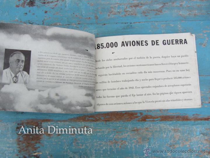 Libros de segunda mano: ANTIGUO FOLLETO - 185.000 AVIONES DE GUERRA - PROPAGANDA DE LOS ESTADOS UNIDOS EEUU - B17 VINDICATOR - Foto 9 - 40673327