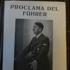 Libros de segunda mano: PROCLAMA DEL FUHRER. Lote 40977094