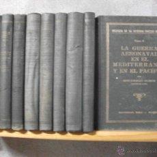 Libros de segunda mano: HISTORIA DE LA SEGUNDA GUERRA MUNDIAL - ANTECEDENTES POLITICOS Y DECLARACION DE GUERRA 1941 -10 TOMO. Lote 41747170