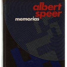 Libros de segunda mano: ALBERT SPEER. MEMORIAS. CON FOTOGRAFIAS. CIRCULO. TAPA DURA. Lote 42116838