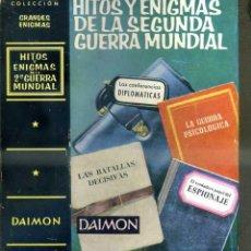 Libros de segunda mano: HITOS Y ENIGMAS DE LA SEGUNDA GUERRA MUNDIAL (DAIMON, 1965). Lote 44204230