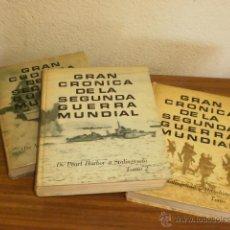 Libros de segunda mano: TRES TOMOS DE GRAN CRONICA DE LA SEGUNDA GUERRA MUNDIAL. Lote 44371582