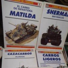 LOTE OSPREY CARROS DE COMBATE ALIADOS SEGUNDA GUERRA MUNDIAL MBE