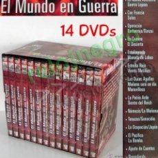 Libros de segunda mano: EL MUNDO EN GUERRA COLECCIÓN 14 DVDS II MUNDIAL HISTORIA NAZIS DOCUMENTALES DVD DOCUMENTAL -NO LIBRO. Lote 49782799
