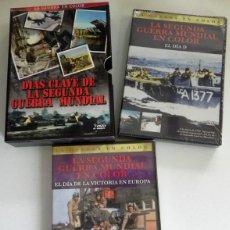 Libros de segunda mano: DVD DOCUMENTALES DÍAS CLAVE DE LA SEGUNDA GUERRA MUNDIAL PRECINT. EL DÍA D LA VICTORIA DOCUMENTAL II. Lote 50224095