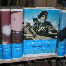 Libros de segunda mano: CHURCHILL, WINSTON S: MEMORIAS. LA SEGUNDA GUERRA MUNDIAL. 6 VOLS.. Lote 50394169