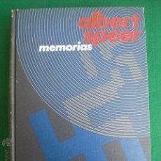 Libros de segunda mano: ALBERT SPEER. MEMORIAS. SEGUNDA GUERRA MUNDIAL. NACIONALSOCIALISMO. Lote 50619462