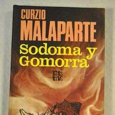 Libros de segunda mano: SODOMA Y GOMORRA. CURZIO MALAPARTE. . Lote 119599867