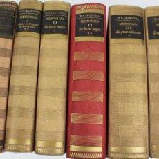 Libros de segunda mano: L-2828. WINSTON S. CHURCHILL. MEMORIAS. SEIS TOMOS. PRIMERA EDICION. AÑO 1949-1950. JOSÉ JANÉS, EDIT. Lote 53215653