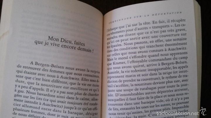 Libros de segunda mano: JE NE VOUS OUBLIERAI JAMAIS, MES ENFANTS D´AUSCHWITZ-DENISE HOLSTEIN-(VER FOTOS)-HOLOCAUSTO - Foto 4 - 56224603