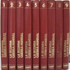 Libros de segunda mano: LA SEGUNDA GUERRA MUNDIAL. 9 TOMOS. SARPE, 1978.. Lote 56043156