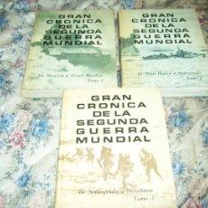 Libros de segunda mano: GRAN CRÓNICA DE LA SEGUNDA GUERRA MUNDIAL. (3 TOMOS). SELECCIONES DEL R.D., 2ª ED, 1965.. Lote 60356351