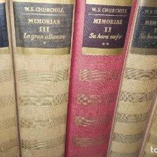 Libros de segunda mano: WINSTON S. CHURCHILL.MEMORIAS. LA SEGUNDA GUERRA MUNDIAL. 12 VOLÚMENES. Lote 194304761