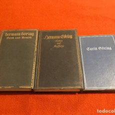 Libros de segunda mano: LOTE DE 3 LIBROS SOBRE HERMANN GÖRING, ADOLF HITLER, TERCER REICH, FUHRER, NAZI. Lote 69115185
