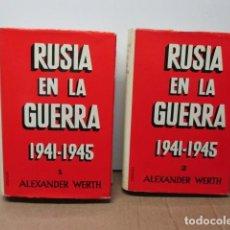 Libros de segunda mano: RUSIA EN LA GUERRA 1941-1945. 2 TOMOS. WERTH. GRIJALBO . Lote 82358020