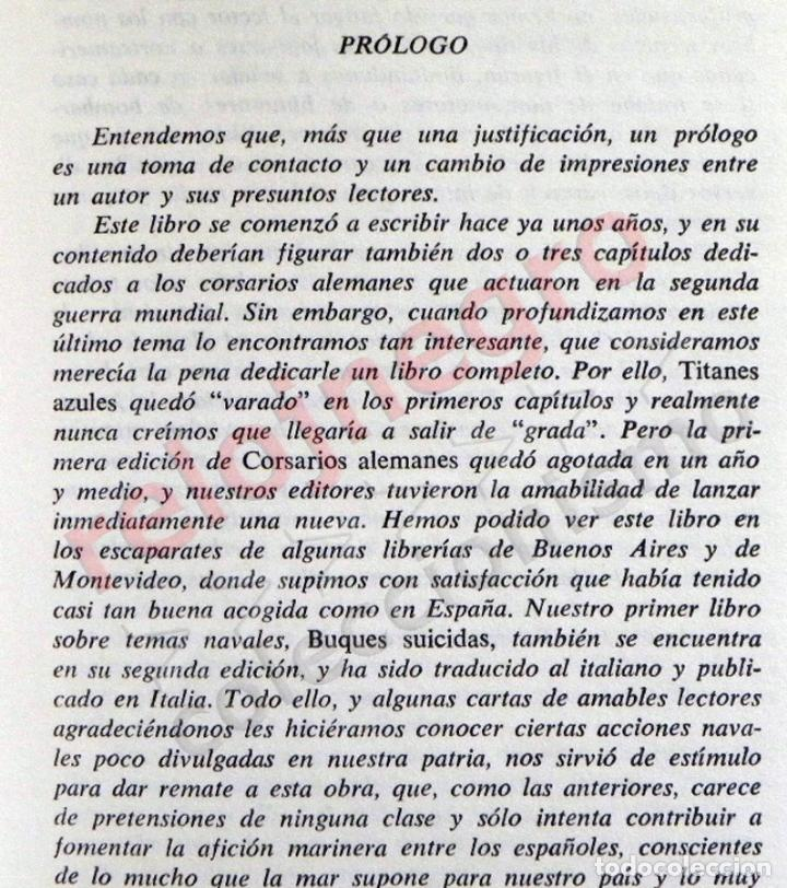 Libros de segunda mano: TITANES AZULES LIBRO LUIS DE LA SIERRA II GUERRA MUNDIAL HISTORIA LOBOS GRISES MAR SUBMARINOS NAZIS - Foto 4 - 83528164