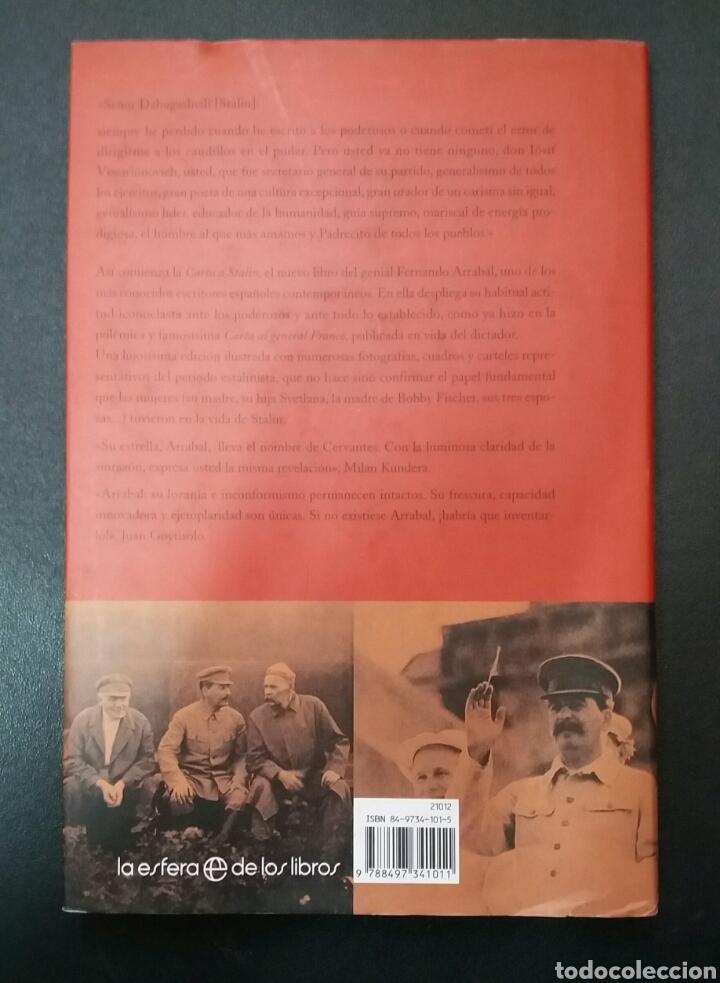Libros de segunda mano: CARTA A STALIN, FERNANDO ARRABAL - Foto 2 - 86111128