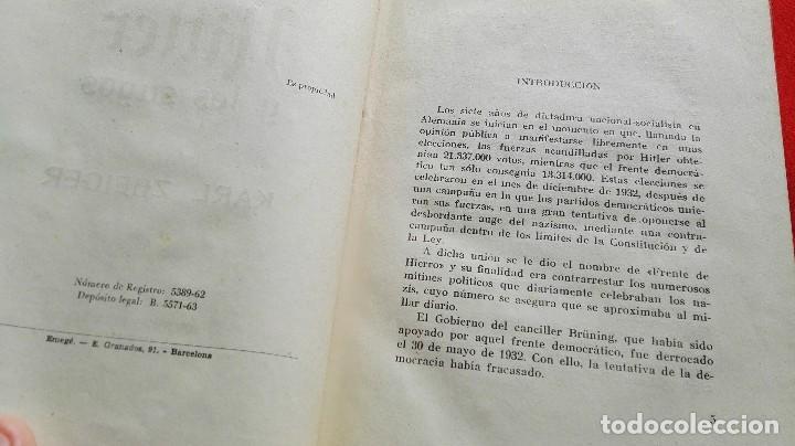 Libros de segunda mano: COMO MURIERON HITLER Y LOS SUYOS - KARL ZHEIGER- ED. RODEGAR 1963 - Foto 4 - 89905324