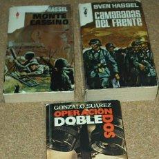 Libros de segunda mano: LOTE DE TRES LIBROS BUENOS-CAMARADAS DEL FRENTE-MONTE CASSINO-OPERACION DOBLE DOS. VER DETALLES. Lote 90034188