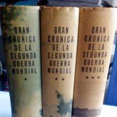 Libros de segunda mano: GRAN CRONICA DE LA SEGUNDA GUERRA MUNDIAL. 3 TOMOS SELECCIONES DEL READER'S DIGEST 1965 1ª EDICIÓN. Lote 90794915