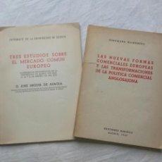 Libros de segunda mano: LIBROS SOBRE EL MERCADO COMÚN EUROPEO. AÑOS 40. UNIFICACIÓN EUROPEA.UNIVERSIDAD DE DEUSTO. Lote 95860914