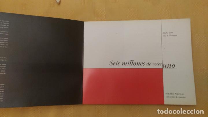 Libros de segunda mano: SEIS MILLONES DE VECES UNO, E HOLOCAUSTO, por E. Toker y Ana Weinstein - Argentina - 1999 - Foto 2 - 103547259