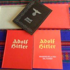 Libros de segunda mano: ADOLF HITLER IMÁGENES DE LA VIDA DEL FÜHRER. ED. LADO. ESTUCHE CON DOS LIBROS DE LUJO. MBE.. Lote 75677851